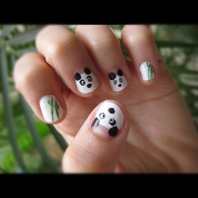 Panda Nail Art: Panda Nail Art